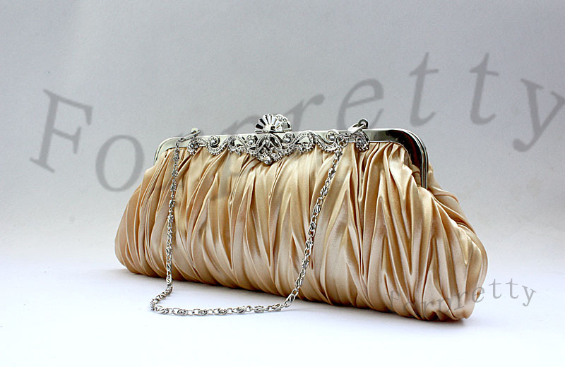 Wedding-Pageant-Clutch-Pleated-Handbag-Purse-Evening-Bag-Byg