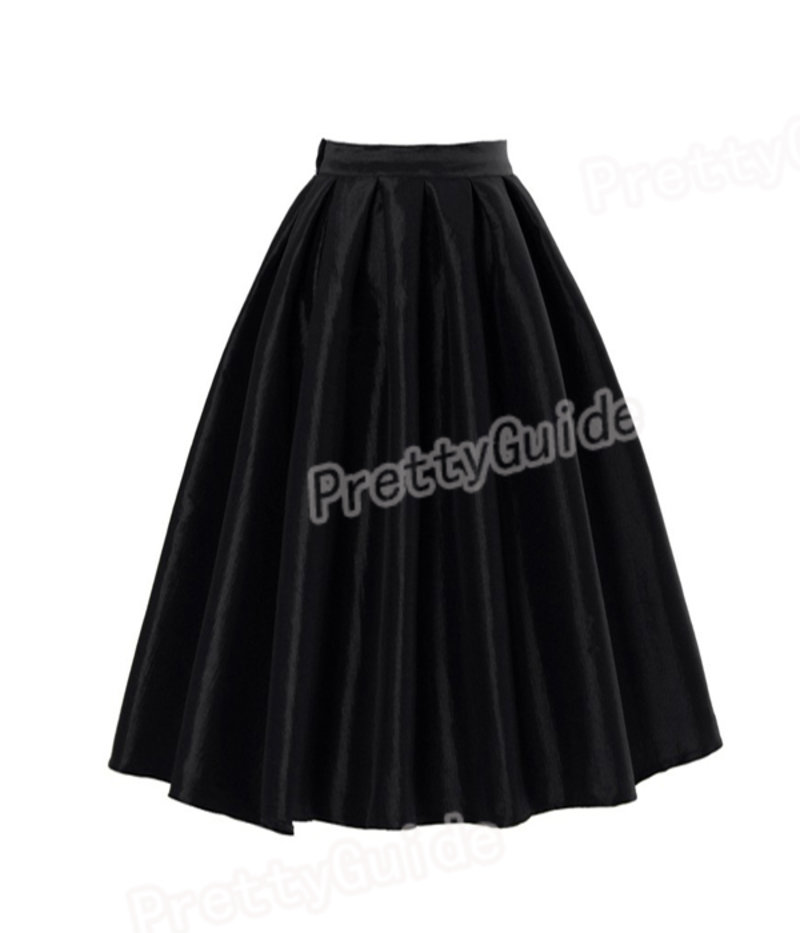 High Waist Full Skirt - Skirts