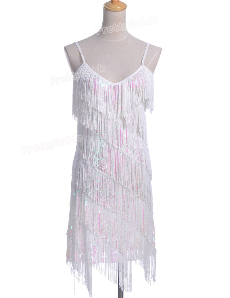 About women vintage sequin fringe 1920s flapper inspired party dress