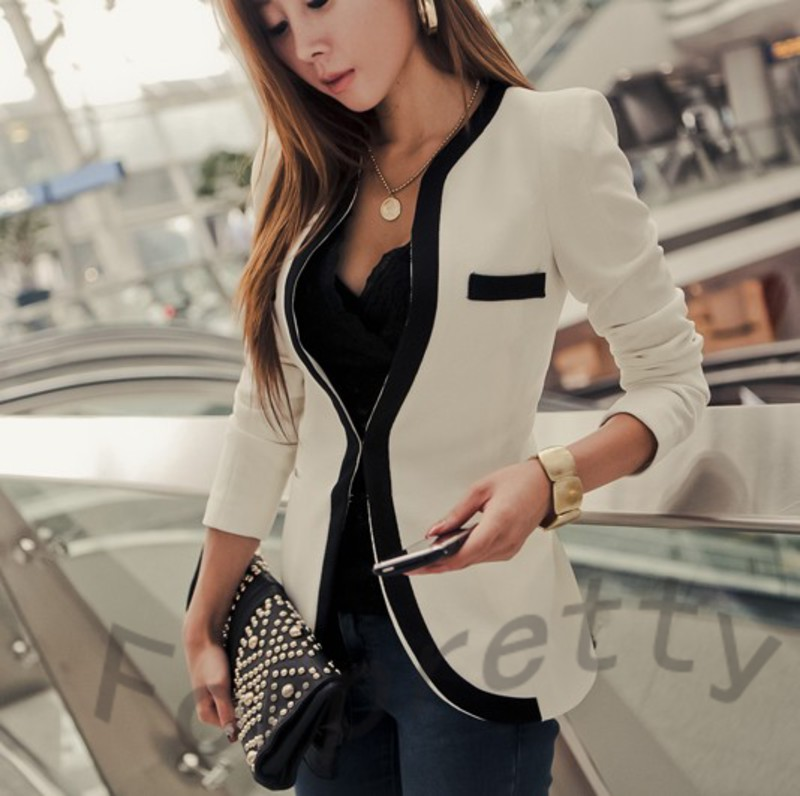 White Blazer Women Photo Album - Reikian